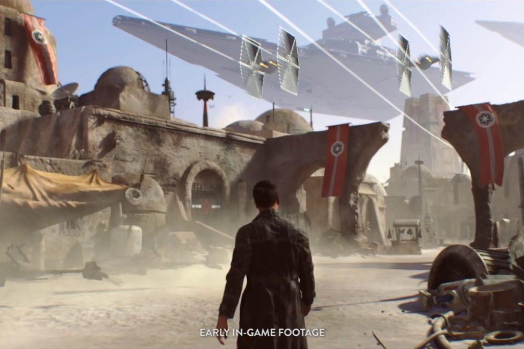 Screenshot z gameplay zrušeného Star Wars projektu