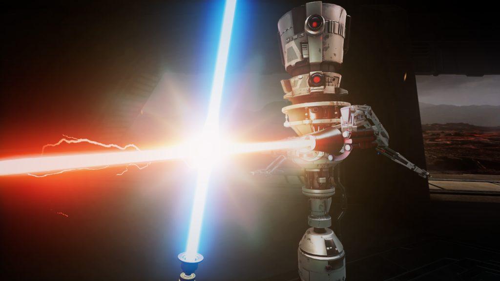 Ukázka souboje se světelnými meči ve Vader Immortal: A Star Wars VR Series