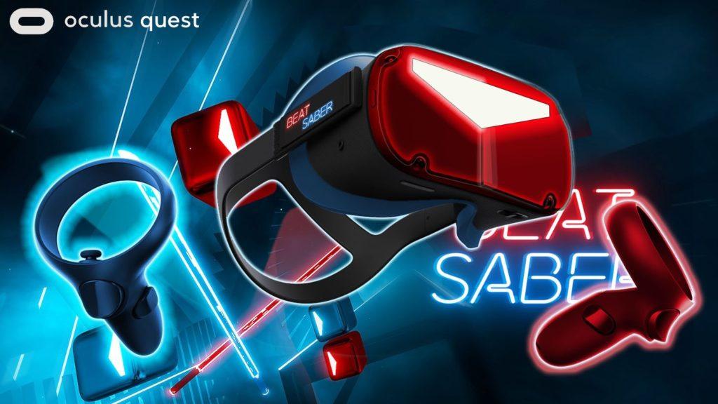Oculus Quest skin na motivy Beat Saber