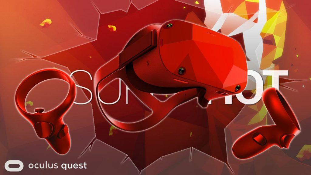 Oculus Quest skin na motivy SUPERHOT VR