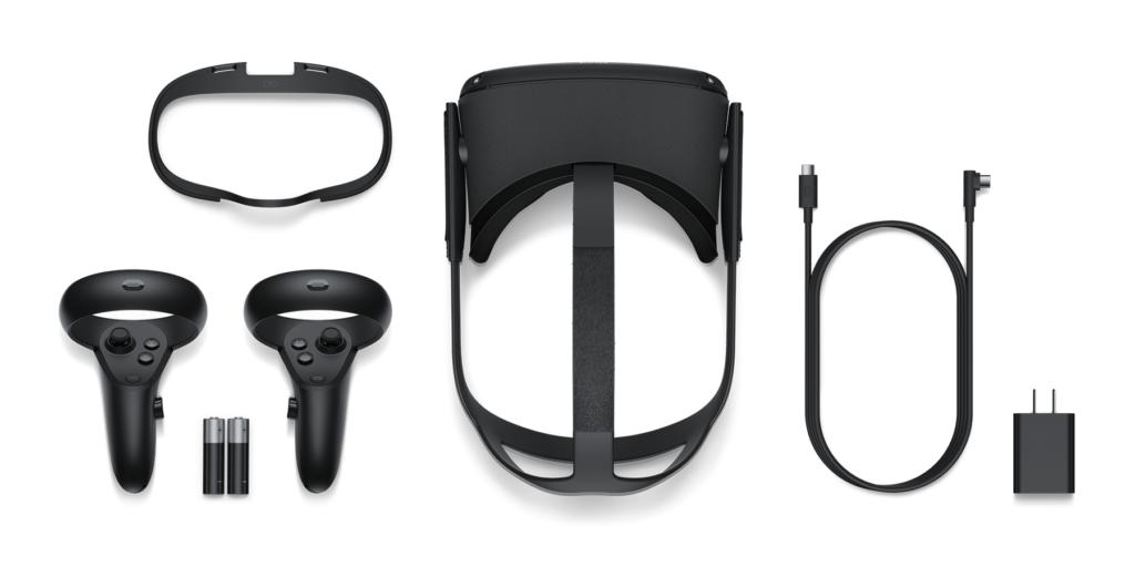 Obsah balení Oculus Quest