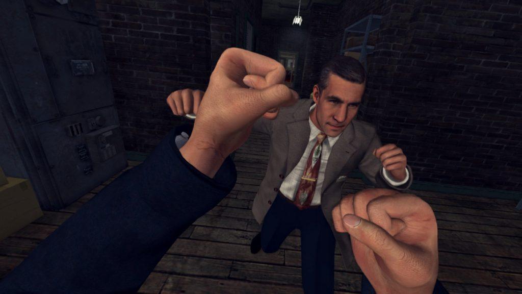 Ukázka pěstního souboje v L.A. Noire: The VR Case Files