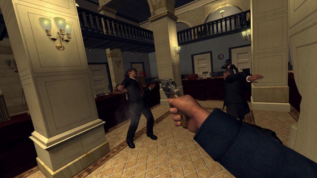 Ukázka střelby v L.A. Noire: The VR Case Files